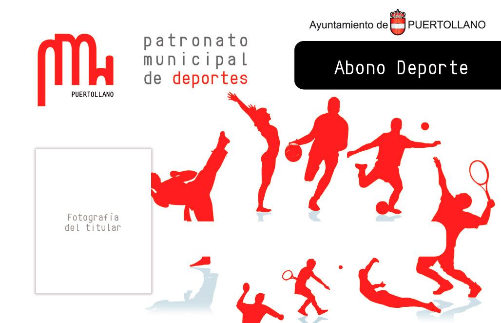 diseño gráfico abono deporte patronato de deportes ciudad real