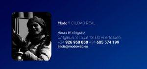 Diseño de página web Ciudad Real. Modoweb.es. Alicia Rodríguez. Puertollano Ciudad Real.
