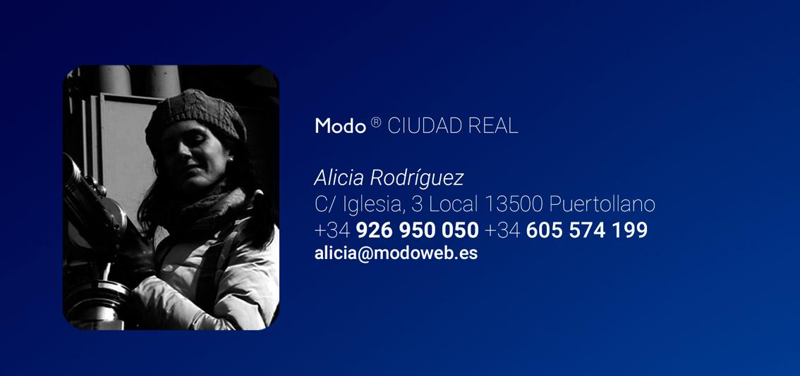 Diseño de páginas web en Ciudad Real. Puertonarcea. Modoweb. Alicia Rodriguez. Diseñadora de páginas web en www.modoweb.es
