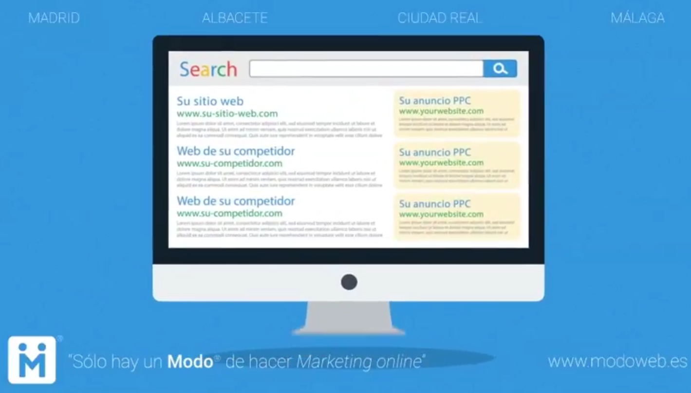 PPC. Campaña de marketing online. modoweb.es Diseño de páginas web Ciudad Real. Madrid. Albacete. Málaga