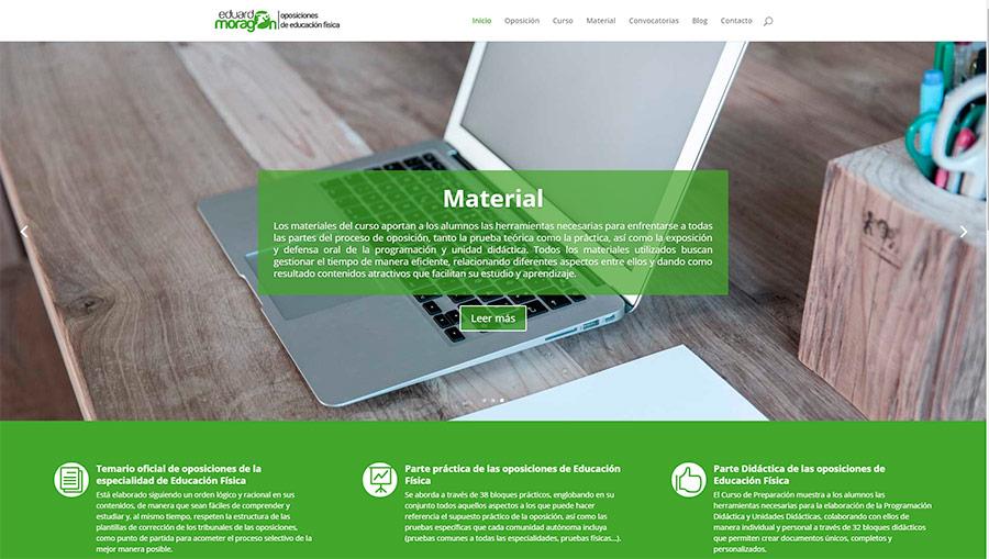 Diseño de páginas web Puertollano. Ciudad Real. Eduardo Moragón. Preparador Físico. Modoweb